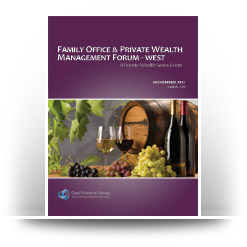 Opal Financial's  Family Office & Private Wealth Management Forum West