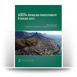 Opal Financial's Inaugural South Africa Investment Forum 2012